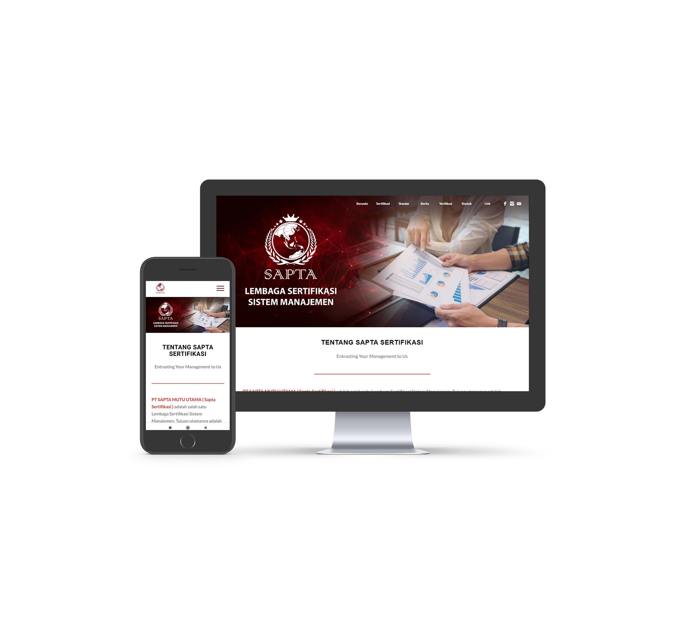 jasa pembuatan Website Sapta Mutu Utama